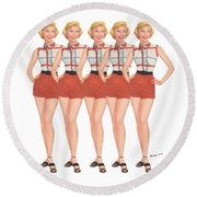 The Stepford Wives Round Beach Towel