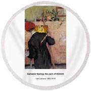 The Still-life Painter Round Beach Towel