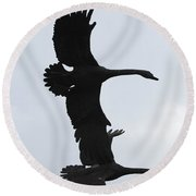 The Stone Birds Round Beach Towel