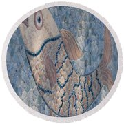 The Stone Fish Round Beach Towel