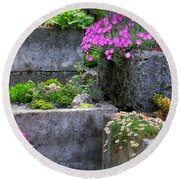 The Stone Planters Round Beach Towel