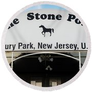 The Stone Pony, Asbury Park Round Beach Towel