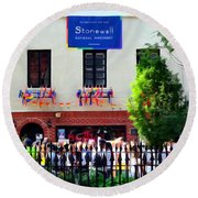 The Stonewall Inn National Monument Round Beach Towel
