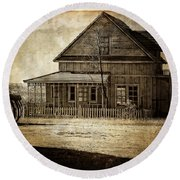 The Stories This House Holds Round Beach Towel