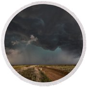 The Storm - Massive Thunderstorm Over Texas Panhandle Round Beach Towel