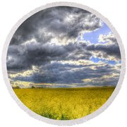 The Storms Approach  Round Beach Towel