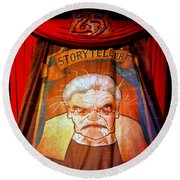 The Storyteller Hhn 25 Round Beach Towel