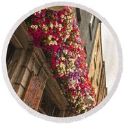 The Street Lamps Round Beach Towel