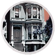The Streets Of San Francisco Round Beach Towel