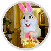 The St.regis Easter Bunny Round Beach Towel