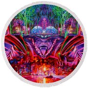 The String Cheese Incident-hulaween Round Beach Towel