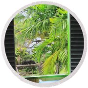 The Studio Window Round Beach Towel