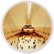 The Stunning Oculus In New York  Round Beach Towel