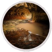 The Subway - Zion National Park Round Beach Towel