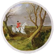 The Suffolk Hunt - Gone Away Round Beach Towel