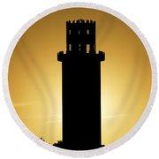 The Sulphur Springs Tower Round Beach Towel