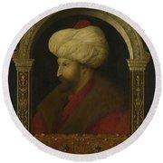 The Sultan Mehmet II Round Beach Towel
