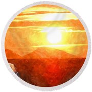 The Sun Dance Round Beach Towel