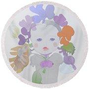 The Sun Flower Child Fairy Round Beach Towel