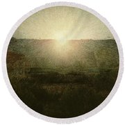 The Sun Round Beach Towel
