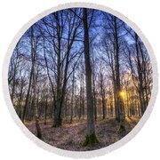 The Sun Ray Forest Round Beach Towel