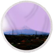 The Sun Still Rises In Japan . All Proceeds Will Go To Japan Earthquake And Tsunami Relief Aid 2011 Round Beach Towel