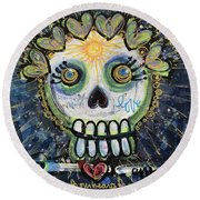 The Sun Still Shines For Our Hearts Round Beach Towel