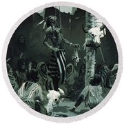 The Sundance Round Beach Towel by Frederic Remington