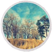 The Sunday Trees Round Beach Towel