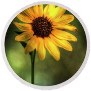 The Sunflower  Round Beach Towel