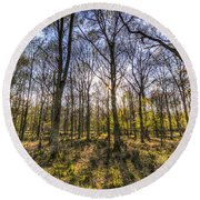 The Sunset Forest Round Beach Towel