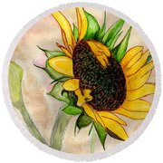 The Sunshine Of God's Love Round Beach Towel