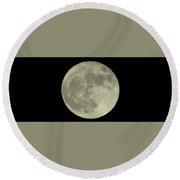 The Super Moon 3 Round Beach Towel
