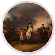 The Surrender Of Lord Cornwallis At Yorktown Round Beach Towel