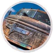 The Survivor - '42 Chevy Round Beach Towel