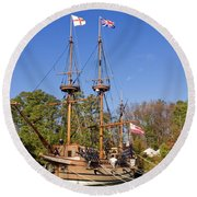The Susan Constant Round Beach Towel
