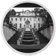 The Swan House Round Beach Towel