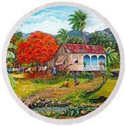 The Sweet Life Round Beach Towel by Karin  Dawn Kelshall- Best