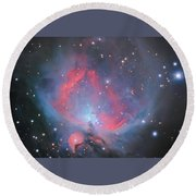 The Sword Of Orion Round Beach Towel