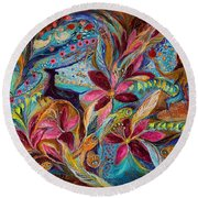 The Tales Of One Thousand And One Nights Round Beach Towel