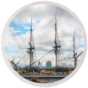 The Tall Ship Hermione - Philadelphia Pa Round Beach Towel