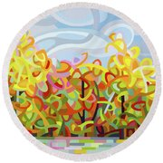 The Tangled Shore Round Beach Towel
