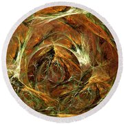 The Tangled Webs We Weave Round Beach Towel
