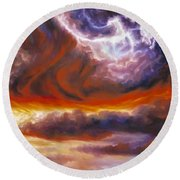 The Tempest Round Beach Towel by James Christopher Hill