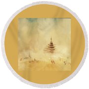 The Temple 2016 Round Beach Towel