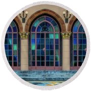 The Terrace At The Ringling Estate - Sarasota, Florida Round Beach Towel