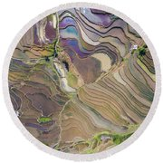 The Terraces Of Yuanyang China Round Beach Towel
