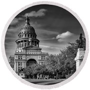 The Texas State Capitol Round Beach Towel