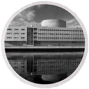 The Theatre Of Oulu  3 Round Beach Towel