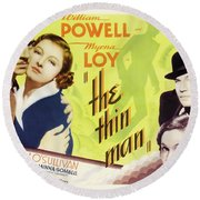 The Thin Man 1934 Round Beach Towel